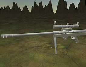3D printable model 50 cal Sniper Rifle