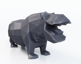 Hippopotamus Low Poly 3D model