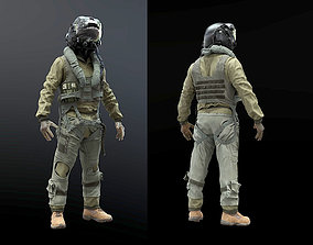 FLIGHT SUIT F35 Pilot 3D