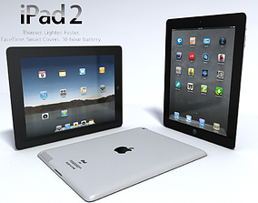 APPLE IPAD 2 3D model hand