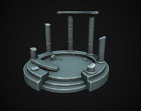 3D model VR / AR ready Stylized fantasy ruins