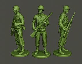 American soldier ww2 StandGuard 3D print model