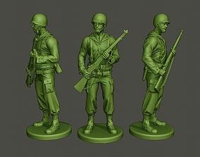 American soldier ww2 StandGuard A1 3D print model