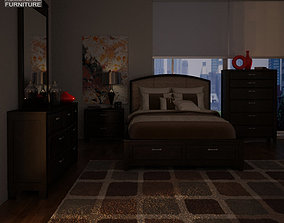 3D model Ashley Emory Panel Bedroom Set