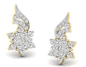 wedding jwelery Women earrings 3dm render detail