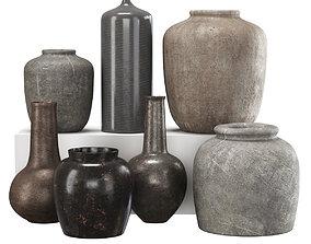 Vases set by House doctor 3D asset