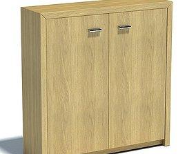 3D Durable Wooden Storage Cabinet