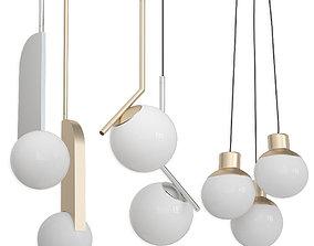Collection Pendants set 3 - Mass B LUX C Ball 3D model 1