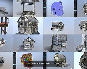 3D Medieval Town Models