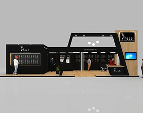 Exhibition stall 3d model 13x5mtr 3 sides open Stand
