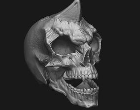 decorative 3D printable model Skull