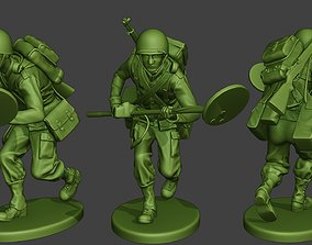 3D printable model American engineer soldier ww2 Run A9
