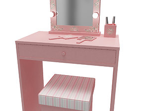 Make up mirror and set 3D model