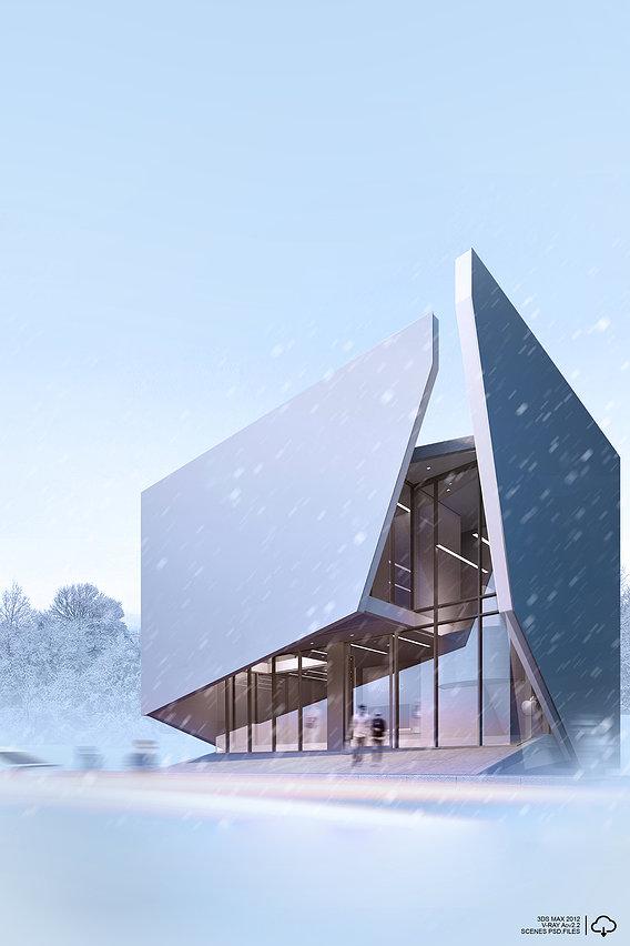 CGI   exterior   Winter atmosphere