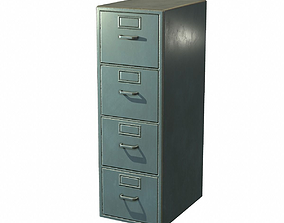 3D model Vertical Filing Cabinet