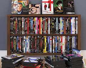 3D model 100 DVD Boxes