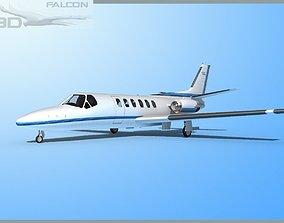 Falcon3D Citation V C560 F11 rigged