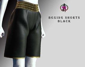 Boxing Shorts - Black 3D asset