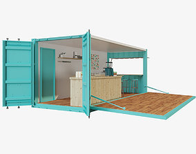 V2Mobile shipping container restaurant 3D