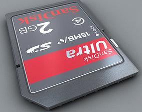 3D model SD Card Detailed