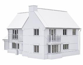 3D model Neighborhood Houses P12