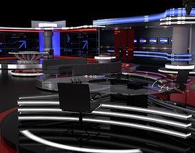 3D model TV studio sets