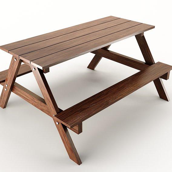 wood table PBR