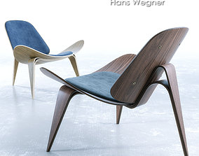 Wegner CH07 Shell Chair 3D model