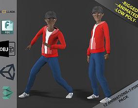 Cartoon Boy Motion Pack 2 3D asset