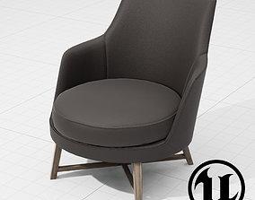 3D model Flexform Guscio Chair UE4