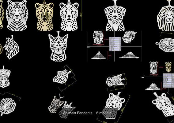animals pendant artwork