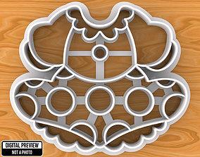 3D print model food Minnie Mouse Dress Cookie Cutter