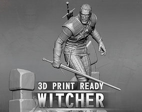 3D printable model The Witcher statuette