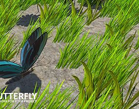 3D model AI butterfly for Unity