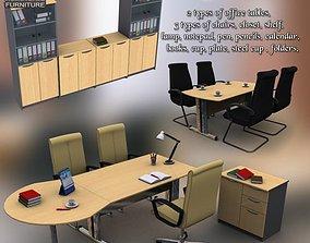 bundle 3D asset game-ready Office Set