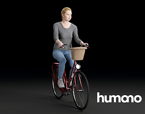 3D Humano Biking Woman 0701