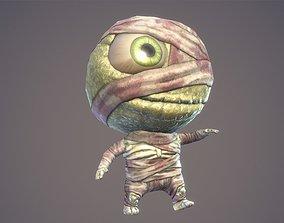3D asset Cartoon Character Chibi Mummy