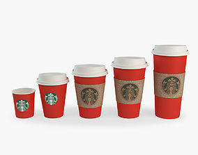 takeaway cups 3D model