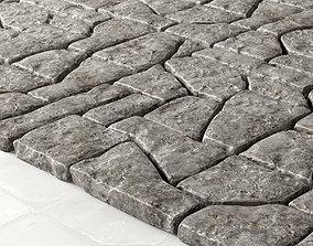 Paving stone old street 3D model
