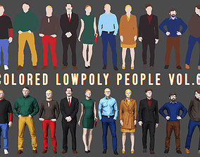 Colored Lowpoly People 3D asset VR / AR ready
