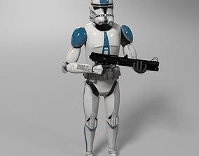 3D Clone Trooper with gun