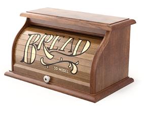 3D model tambour Bread Box
