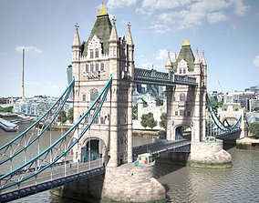 London Tower Bridge 3D model