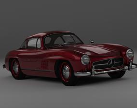 rigged realtime Mercedes Benz 300SL 3D model
