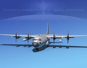 3D Lockheed C-130 Hercules Bare Metal
