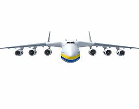 Antonov An-225 Mriya Aerial Scene 3D model