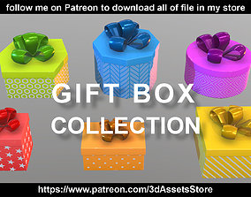 Environment - Christmas Gift Box Collection 3D model