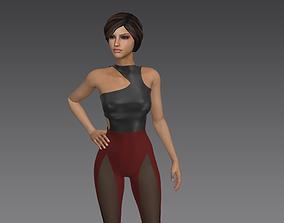 women casual Jumpsuit - Marvelous Designer 3D model