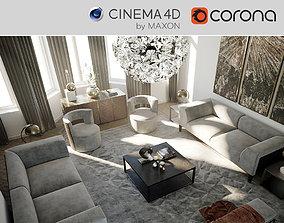 3D model CoronaC4D Scene files - Living Room 2 Scene
