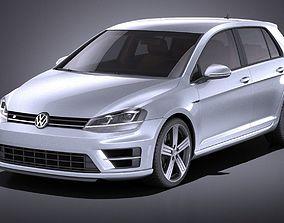 Volkswagen Golf VII R 5-door 2015 VRAY 3D